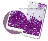 Acessório de telefone celular 3D Liquid Crystal Crystal Quicksand Case para iPhone 6 6s Cell Phone Cover Case