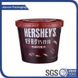 Рециркулировать пластичный шар контейнера ведра еды шоколада доли