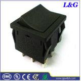 力のDpst 16A250VACステレオのためのマイクロボタンのロッカーのパドルスイッチ