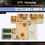 Cubierta prefabricada de tres habitaciones con el palmo de la larga vida