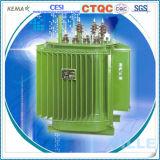 transformateur amorphe triphasé immergé dans l'huile d'alliage de 500kVA 10kv/transformateur de distribution
