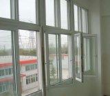 Europäischer Standard-moderner Entwurfs-hölzernes Korn-Film überzogenes Belüftung-Flügelfenster-Glasfenster (PCW-035)