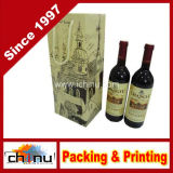 Bolso de papel personalizado del vino del OEM (2334)