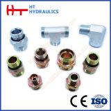 Mâle métrique 60degré Mâle BSPT Saet/adaptateur de flexible hydraulique (1KT-SP)