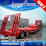 元の広く利用された6タイヤによって露出される販売のための100t 3行車軸低いベッドの半トレーラー
