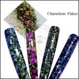 Новые поступления Ocrown Chameleon Galaxy хлопья Holo порошок прозрачных Chameleon Galaxy хлопья для лак для ногтей