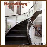 Diseño de cristal interior del pasamano del acero inoxidable para el hotel de las escaleras (SJ-H1415)