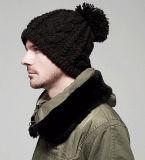 編まれた冬の帽子を編むBeckhamの方法