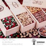 Коробка упаковки еды логоса Hongdao горячая проштемпелеванная деревянная