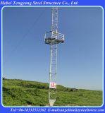 Torretta galvanizzata dell'acciaio di Guyed della grata di telecomunicazione