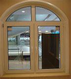 Hölzernes Korn-Aluminiumbogen-Fenster mit doppeltem Glas
