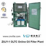 Installatie van de Filter van de Olie van Oltc de Online op de Schakelaar van de Transformator van de Wisselaar van de Kraan van de Lading