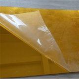 Folha acrílica da cor dourada para a venda