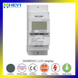 RS485 Communication Energy MeterのTwo Wire LCD表示の単一のPhase DIN Rail Electric Meter 2ポーランド人KWH Meter