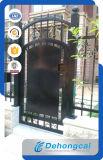 Decoración de peatones exterior puerta de hierro forjado.