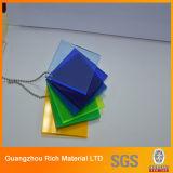 Panel acrílico de color el polimetilmetacrilato PMMA panel de plexiglás
