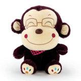 Long jouet de peluche de singe de bras et de pattes de jouet mou de peluches pour la fille