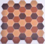 Hexagonal baratos mosaico de vidrio de 4 mm.