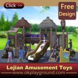 Les enfants Aire de jeux de plein air en plastique bon marché Structure de jeu (X1405-8)