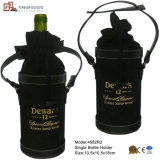 Faux Suede Single Bottle Wine Bag (4582R3)