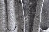 Maglione di lavoro a maglia del cappotto del cardigan degli uomini del risvolto di modo di inverno con il tasto