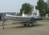 Aqualand 16feet 4.8mのガラス繊維の堅い外皮の膨脹可能なモーターボートか肋骨の漁船(rib470b)