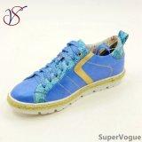 Trois Chaussures Couleur Loisirs Mode Femmes Lady avec Lin Ab17s08-003-Blue