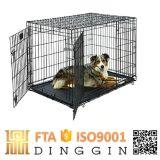 黒いEletroコート犬の製品のケージ