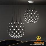 Salle à manger la pendaison lampe LED acrylique Poignée de commande de l'éclairage décoratif (9388P)