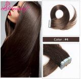 2016 Cinta de moda brasileña natural del pelo de la Virgen extensión del pelo humano