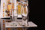 De Mok van het glas voor het Drinken van het Bier het Water van de Kop van het Glas met Handvat