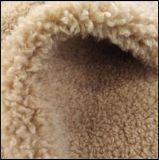 女性のためのCoat Warm Winter Jacke模造ウールののどの毛皮