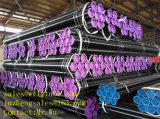 Las lsm del tubo de acero negro, ASTM A106/A53 gr. B la tubería de acero para el agua y gas