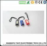 Keychain Taschenlampe mit PFEILER Arbeits-Licht USB-LED