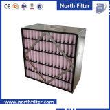 Filtro medio del rectángulo de la fibra sintetizada con el soporte del metal