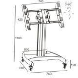 """La televisión pública el soporte de suelo de la pantalla táctil de distancia entre ejes 32-55"""" (AVA 102C)"""