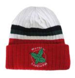 Красной связанные зимой шлемы шерстей шлемов