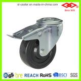 100mm örtlich festgelegte Platten-harter Gummi-industrielle Fußrolle (D102-53B100X32)
