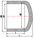 10inch 12inch CPVC Sch80の管付属品のエンドキャップ