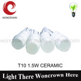 T10 1.5W Ceramische Hete Automobiel LEIDENE Verlichting