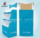 Stand de comptoir en carton de haute qualité 2017 avec en-tête, impression 4c Affichage carton ondulé
