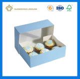 4PCS чашки пирог с прозрачное окно в верхней части (с) бумаги