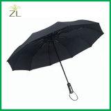 10 أضلاع [بونج] سيّارة مفتوح وقريبة آليّة 3 يطوي مظلة