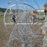 La policía y militares del sistema de Barrera de alambre de navaja