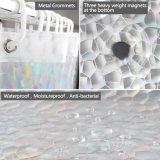 Efecto 3D Imprimir cortina de ventana de cuarto de baño para bañera ducha