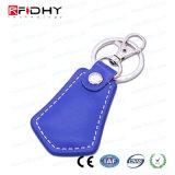 Couro de venda quente key fob via RFID de Controle de Acesso