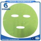 Máscara facial de microfibra verde de microfibras de folhas Nonwoven Fabric