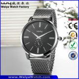 Correa de cuero ODM de la fábrica de cuarzo Ver Damas Relojes de Pulsera (Wy-066C)