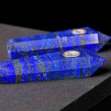 Tubulação de fumo material natural de fumo da tubulação da mão do Lazuli de Lapis da tubulação da mão