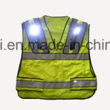 Maglia riflettente di sicurezza della maglia speciale di disegno con la chiusura lampo e le caselle